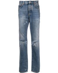 Givenchy - Distressed Ripped Knee Jeans - Lyst