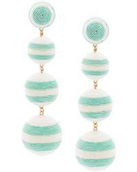 Rebecca de Ravenel | Striped Drop Earrings | Lyst