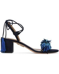 Aquazzura | Black & Blue 'wild Thing' Sandal | Lyst