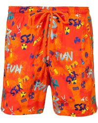 Vilebrequin - Men Swimtrunks Printed And Embroidered Sea Sex And Fun - Limited Edition - Lyst