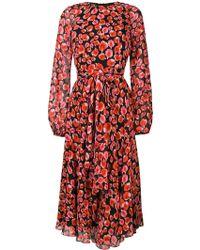 Giambattista Valli - Red Floral Petal Printed Dress - Lyst