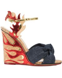 Charlotte Olympia - Flame Wedge Sandals - Lyst