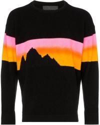 The Elder Statesman - Alpine Sunset Cashmere Jumper - Lyst