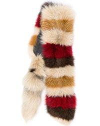 Marni - Striped Fox Fur Stole - Lyst