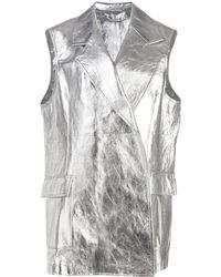 CALVIN KLEIN 205W39NYC - Metallic Long Vest - Lyst