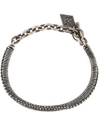 M. Cohen - Braided Metallic Bracelet - Lyst