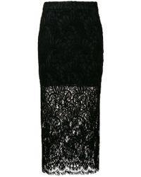 26a44c6abc Stella McCartney Gianna Metallic Pleated Lace-trim Skirt - Lyst