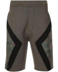 Neil Barrett - Camouflage Panel Shorts - Lyst