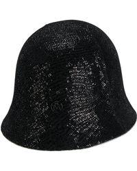 Maison Michel - Sequin Embellished Cloche Hat - Lyst