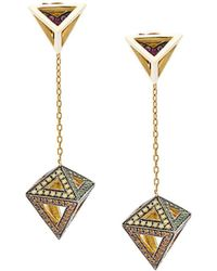 Noor Fares - Octahedron Earrings - Lyst