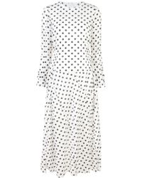 Julien David - Longsleeved Spot Print Dress - Lyst