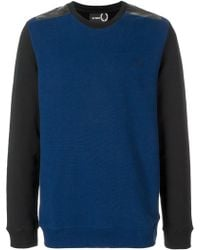 Fred Perry - Tape Detail Sweatshirt - Lyst