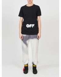 Off-White c/o Virgil Abloh - Kidmogram Tee Shirt - Lyst