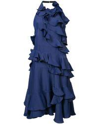 Maison Rabih Kayrouz - Halterneck Ruffled Dress - Lyst