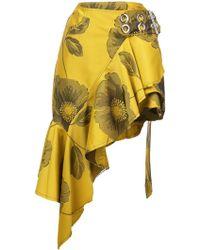 Marques'Almeida - Asymmetric Floral Jacquard Mini Skirt - Lyst