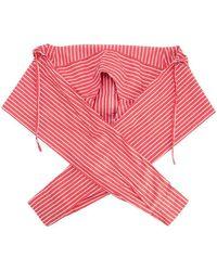 Balenciaga - Striped Scarf Red - Lyst