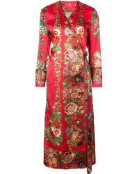 For Restless Sleepers - Longsleeved Wrap Dress - Lyst