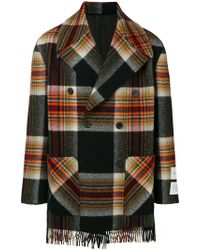 CALVIN KLEIN 205W39NYC - X Pendleton Double Breasted Plaid Coat - Lyst