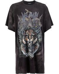 Balmain - Oversized Tiger Print T-shirt - Lyst