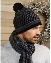 The White Company - Cashmere Textured Beanie Hat - Lyst