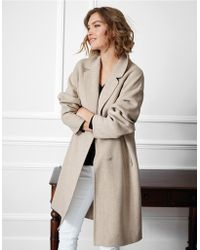 The White Company - Long Double Faced Coat - Lyst