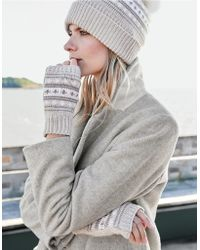 The White Company - Fair Isle Wrist Warmers With Cashmere - Lyst