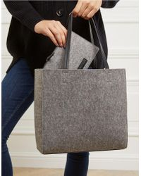 The White Company - Felt Tote Bag With Zipped Pouch - Lyst
