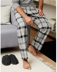 The White Company - Flannel Check Pajama Bottoms - Lyst