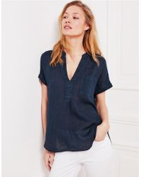 The White Company - Linen Gauze Top - Lyst
