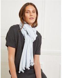 The White Company - Pom-pom Knitted Scarf - Lyst
