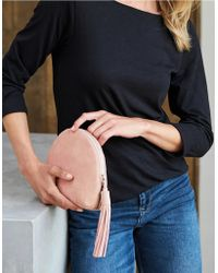 The White Company - Suede Half Moon Clutch Bag - Lyst