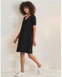 The White Company - Button Back Jersey Swing Dress - Lyst