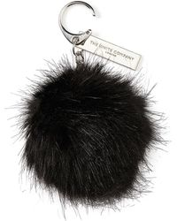 The White Company - Faux Fur Pom-pom Keyring - Lyst