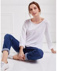 The White Company - Linen Button Back Top - Lyst