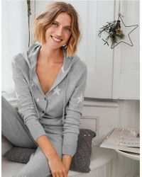 The White Company - Cotton-cashmere Star Onesie - Lyst