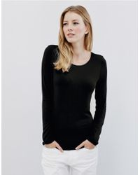 The White Company | Essential Double Layer T-shirt | Lyst