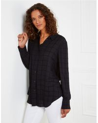 The White Company - Flocked Check Shirt - Lyst
