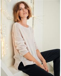 The White Company - Wool-cashmere Waffle Jumper - Lyst