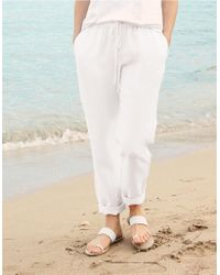 The White Company - Linen Beach Pants - Lyst