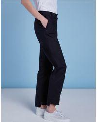 The White Company - Split Hem Oxford Trousers - Lyst