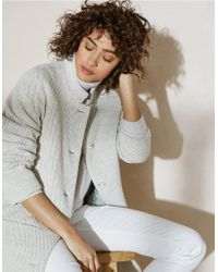 The White Company - Twill Coat With Wool - Lyst
