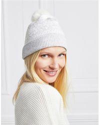 The White Company - Wool-cashmere Fair Isle Beanie Hat - Lyst