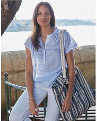 The White Company - Stripe Oversized Beach Bag - Lyst