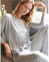 The White Company - Tie Detail Pyjama Set - Lyst
