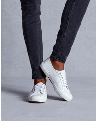 The White Company - Superga Leather Plimsolls - Lyst