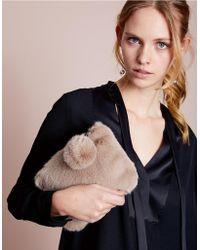 The White Company - Faux Fur Pom-pom Clutch Bag - Lyst