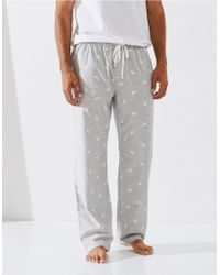 The White Company - Stag Flannel Pajama Bottoms - Lyst