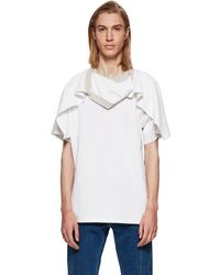 White Flap Around Shoulder T-Shirt Y / Project Sale Many Kinds Of Cheap Exclusive VzEM9i7FeX