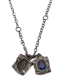Henson - Carved Cube Necklace - Lyst