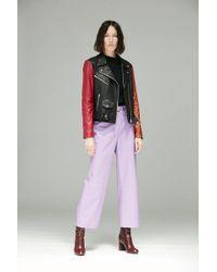 VEDA - Vance Leather Trouser Violet - Lyst